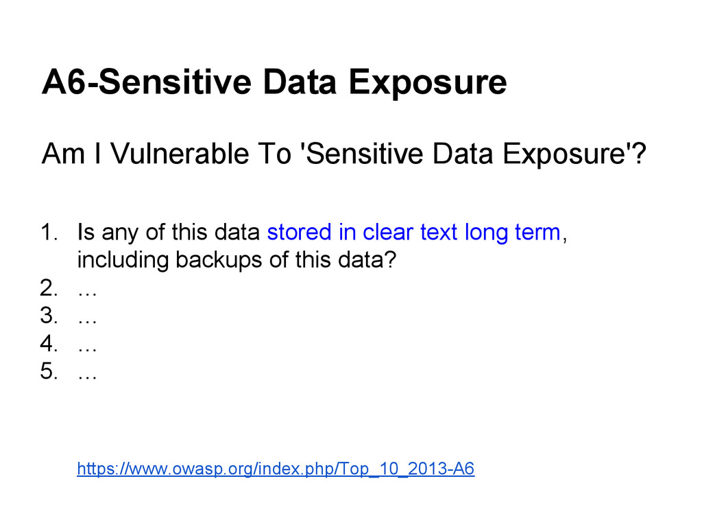 A6-Sensitive Data Exposure Am I Vulnerable To '...