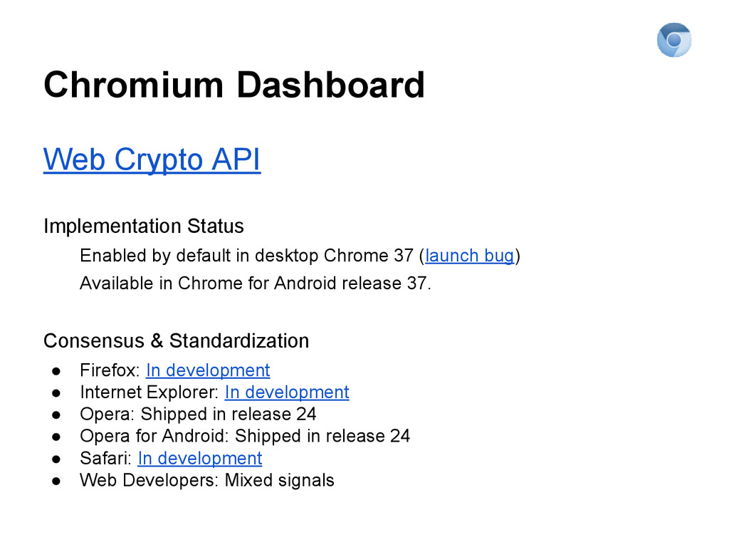 Chromium Dashboard Web Crypto API Implementatio...