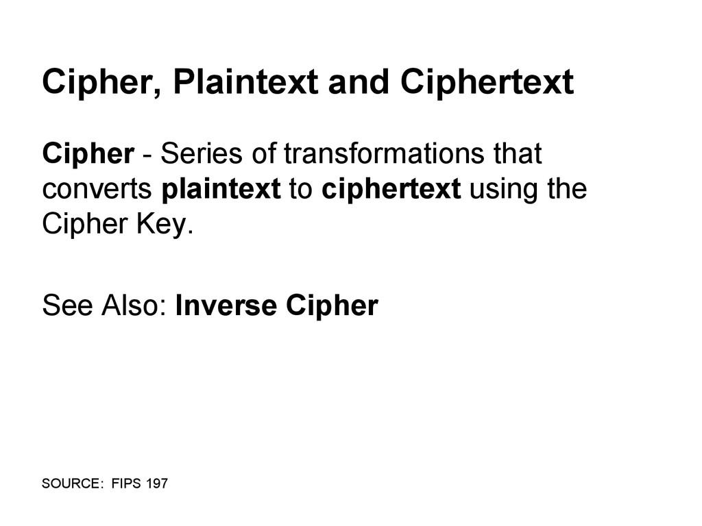 Cipher, Plaintext and Ciphertext Cipher - Serie...