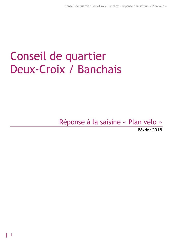 1 Conseil de quartier Deux-Croix/Banchais - rép...