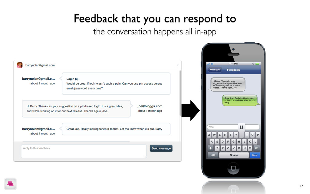 17 Feedback that you can respond to the convers...