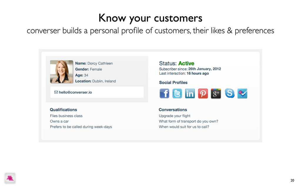 20 Know your customers converser builds a perso...