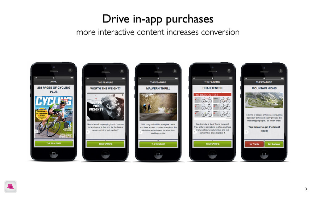 31 Drive in-app purchases more interactive cont...