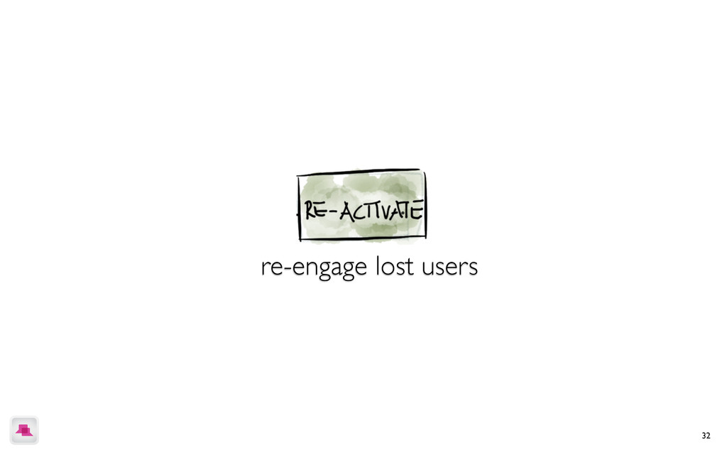 32 re-engage lost users