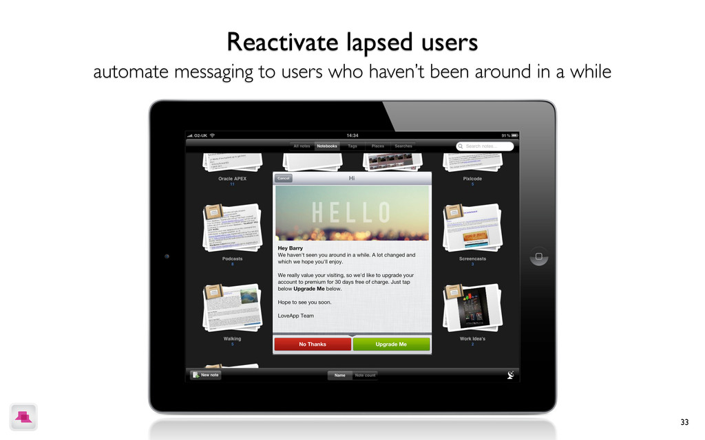 33 Reactivate lapsed users automate messaging t...