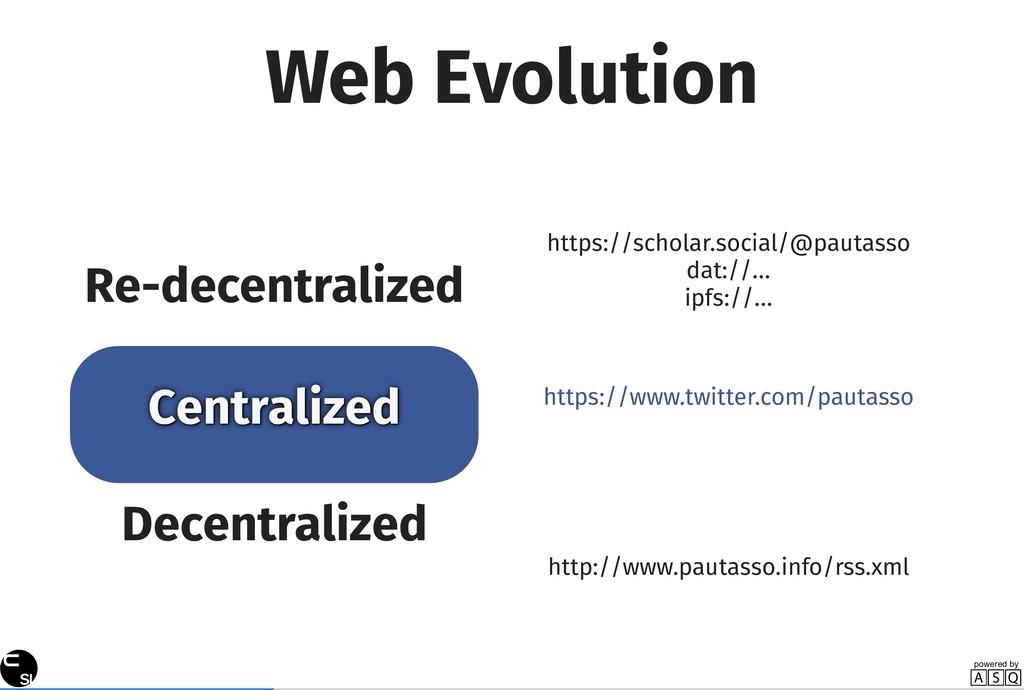 Web Evolution Decentralized Centralized Re-dece...