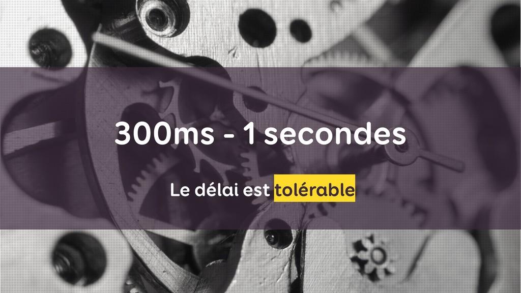 300ms - 1 secondes Le délai est tolérable