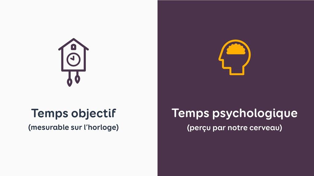 Temps psychologique (perçu par notre cerveau) T...