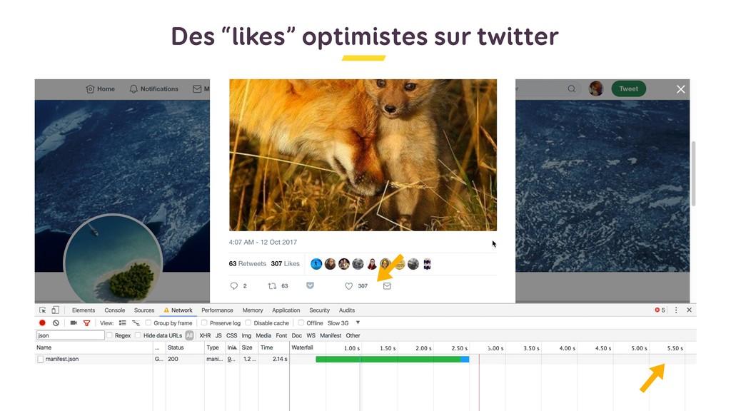 """Des """"likes"""" optimistes sur twitter"""