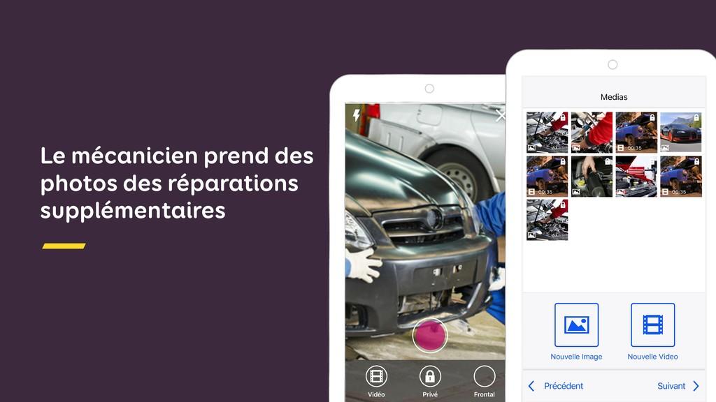 Vidéo Privé Frontal Le mécanicien prend des pho...