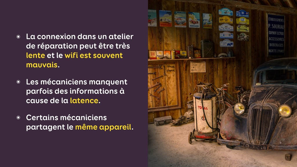 ๏ La connexion dans un atelier de réparation pe...