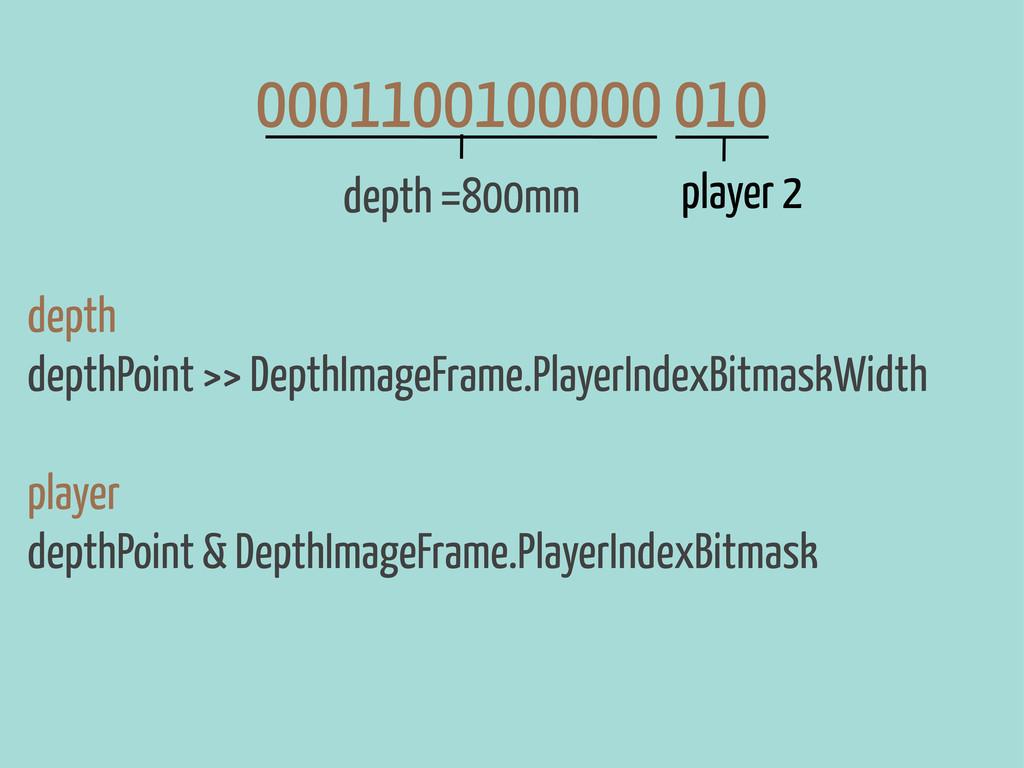 depth depthPoint >> DepthImageFrame.PlayerIndex...