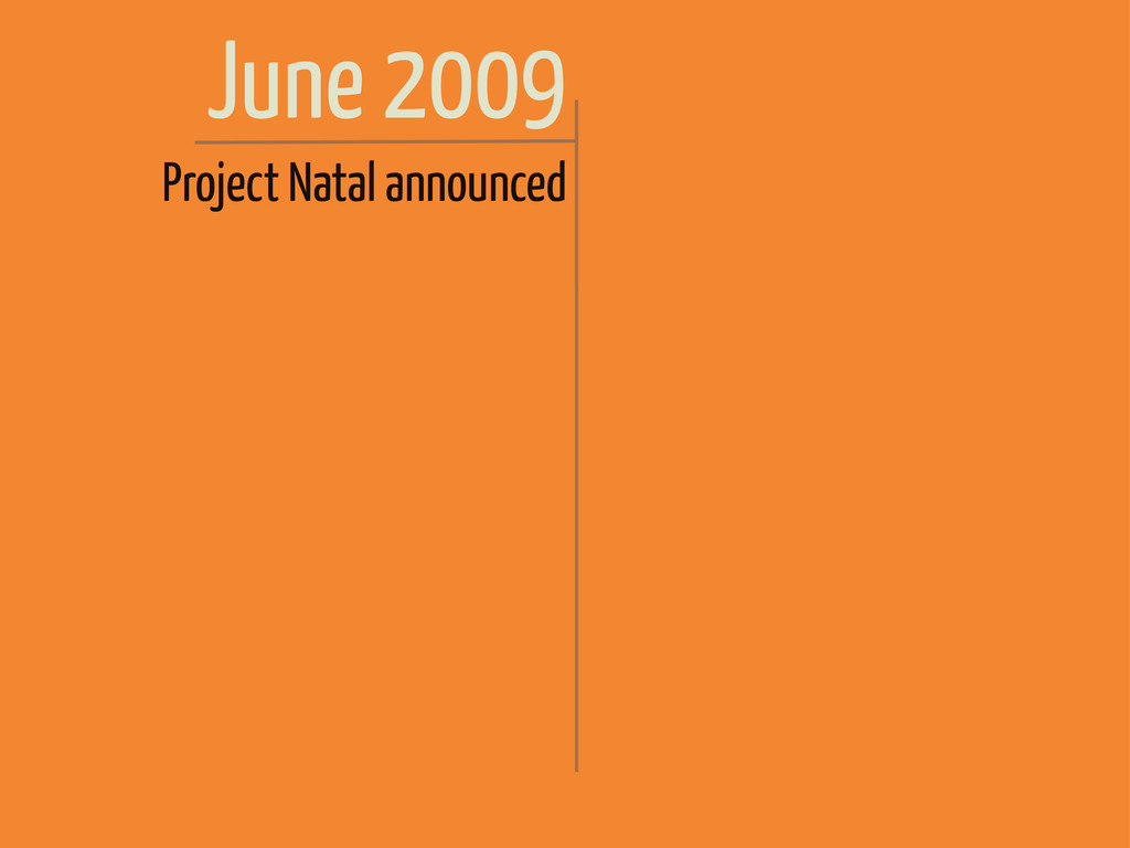June 2009 Project Natal announced