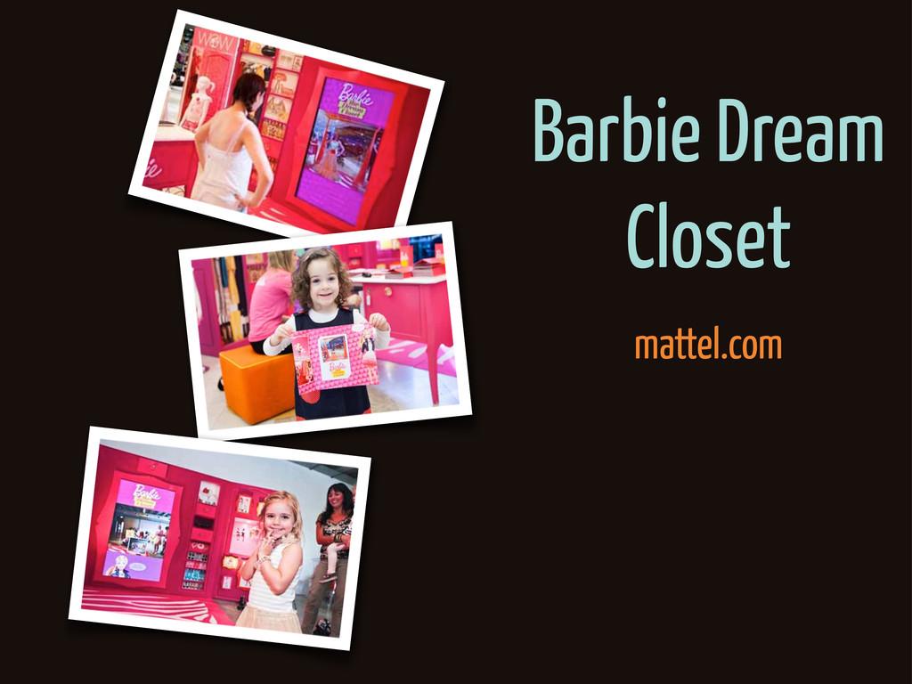 Barbie Dream Closet mattel.com
