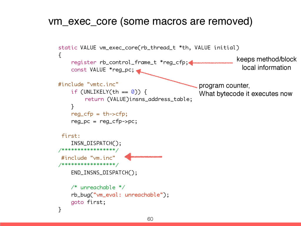 static VALUE vm_exec_core(rb_thread_t *th, VALU...