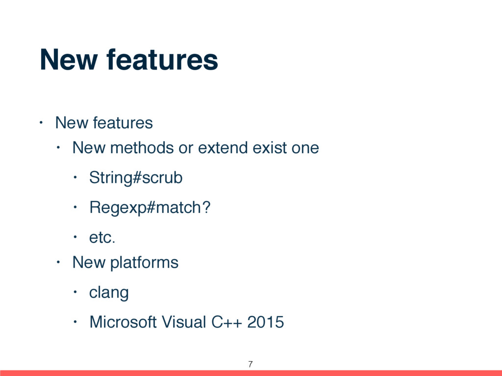 New features • New features • New methods or ex...