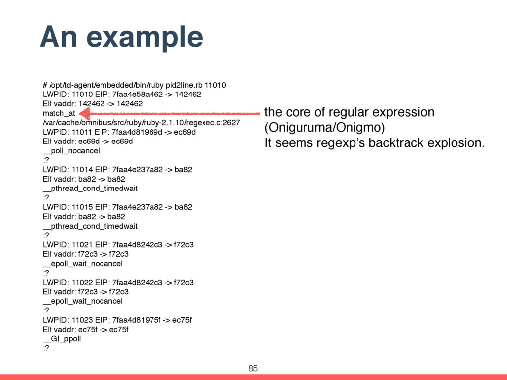 An example # /opt/td-agent/embedded/bin/ruby pi...