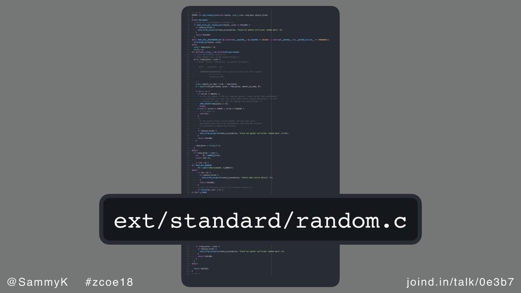 joind.in/talk/0e3b7 @SammyK #zcoe18 ext/standar...