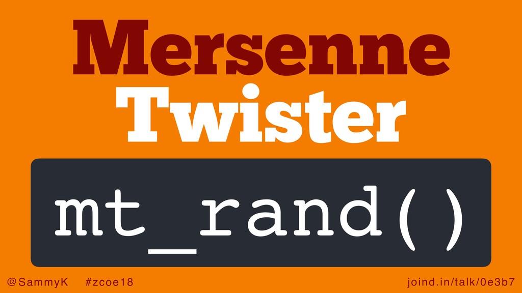 joind.in/talk/0e3b7 @SammyK #zcoe18 Twister Mer...