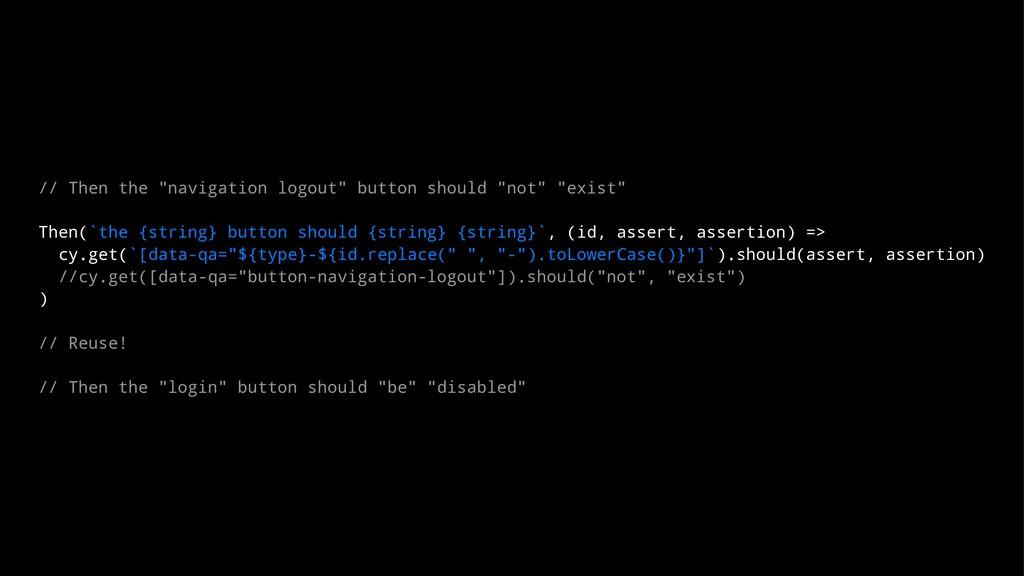 """// Then the """"navigation logout"""" button should """"..."""
