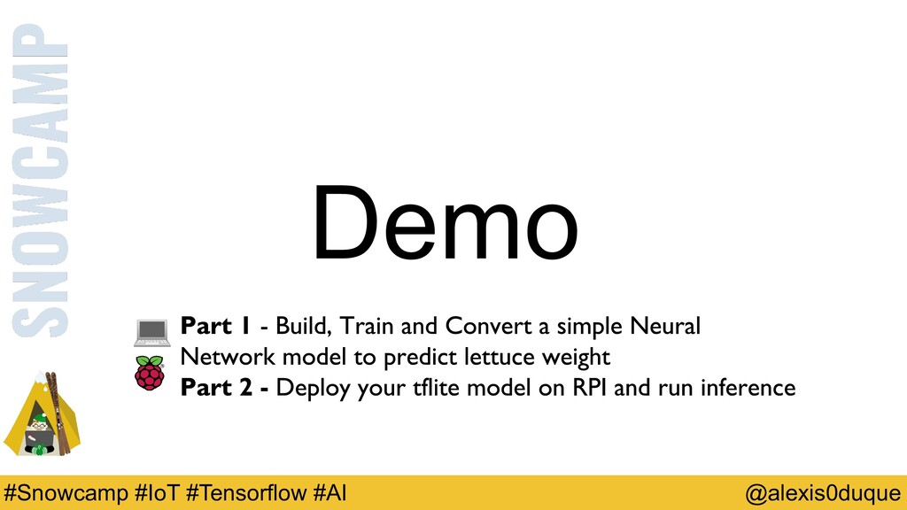 Demo @alexis0duque #Snowcamp #IoT #Tensorflow #...
