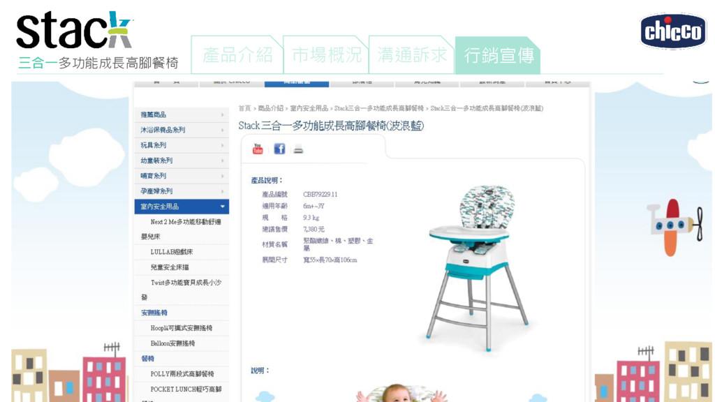 三合一多功能成長高腳餐椅 產品介紹 市場概況 行銷宣傳 溝通訴求