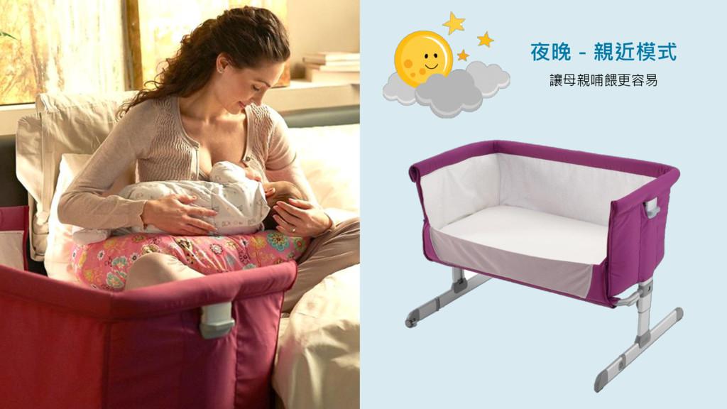 夜晚-親近模式 讓母親哺餵更容易