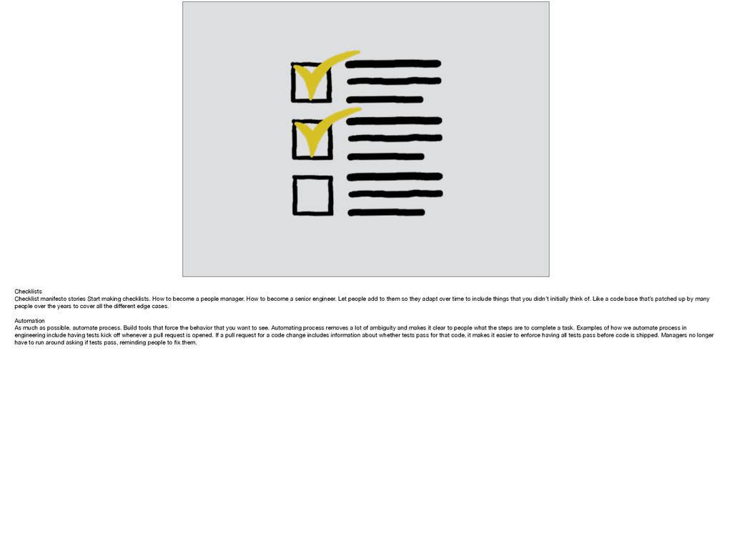 Checklists  Checklist manifesto stories Start m...
