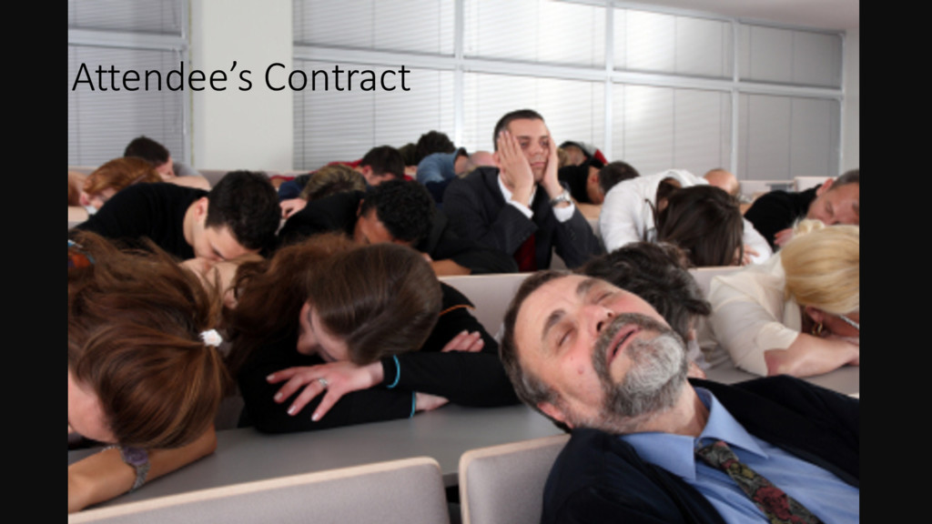 Attendee's Contract