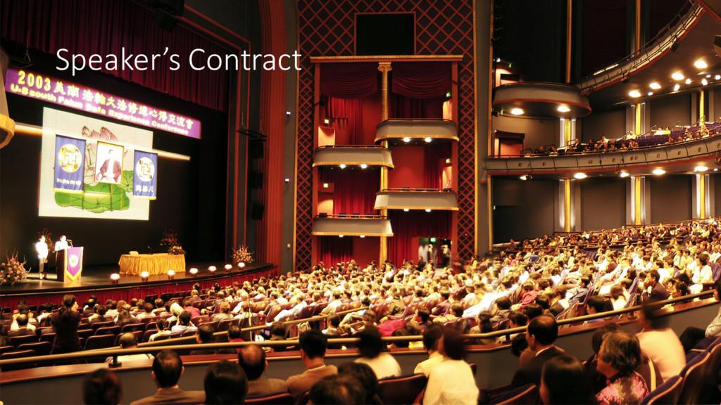 Speaker's Contract