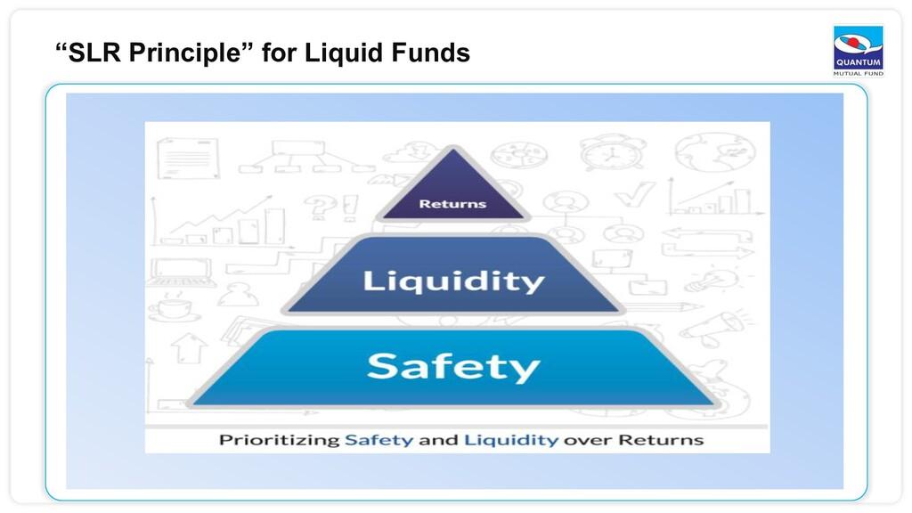 """SLR Principle"" for Liquid Funds"