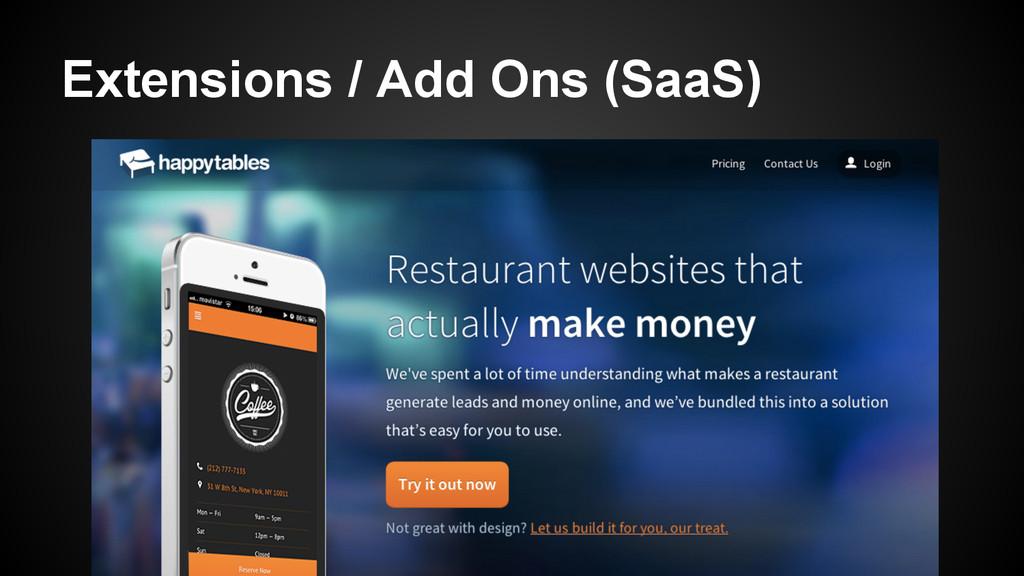 Extensions / Add Ons (SaaS)