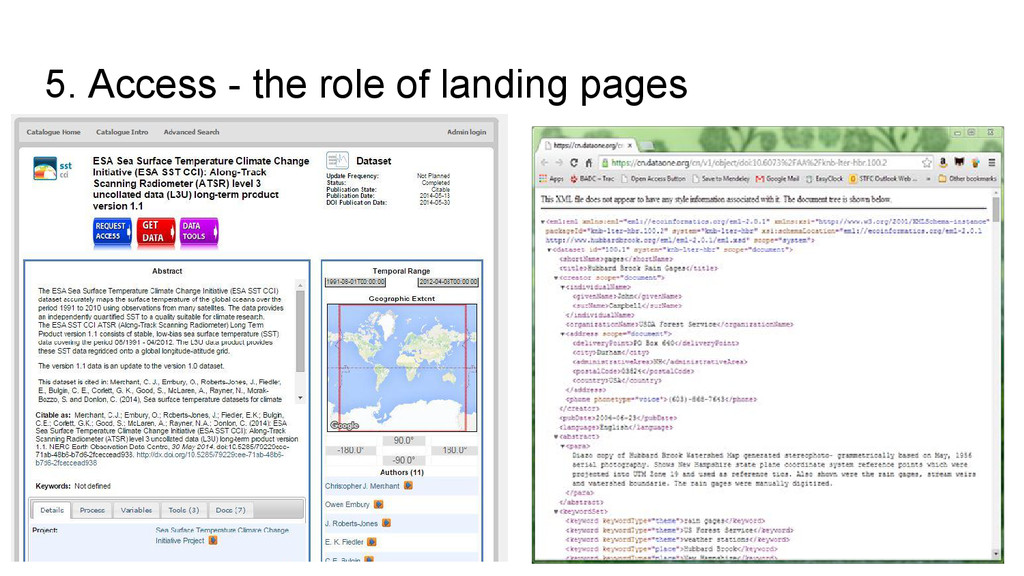 5. Access - the role of landing pages