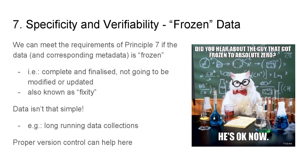"""7. Specificity and Verifiability - """"Frozen"""" Dat..."""