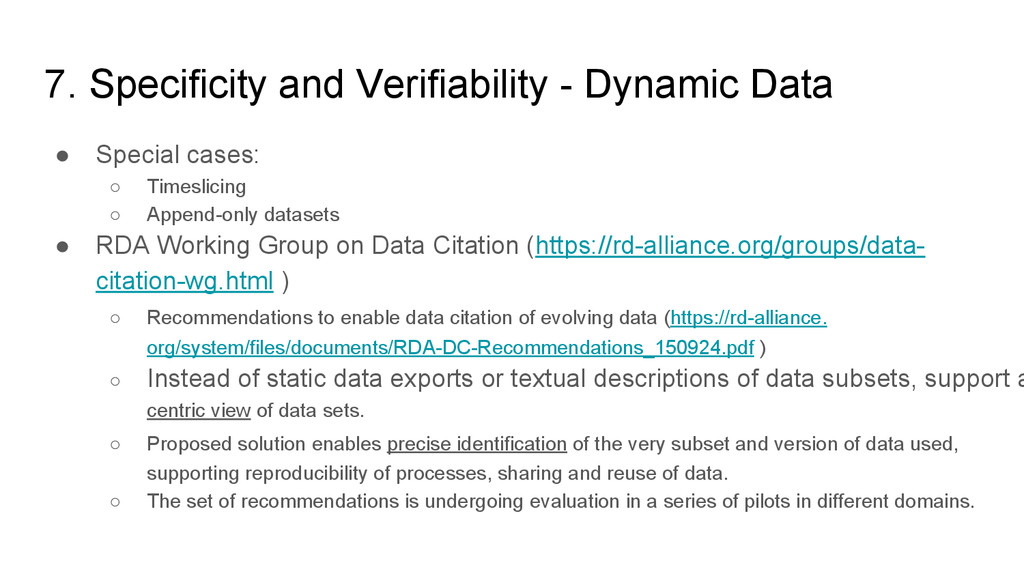 7. Specificity and Verifiability - Dynamic Data...