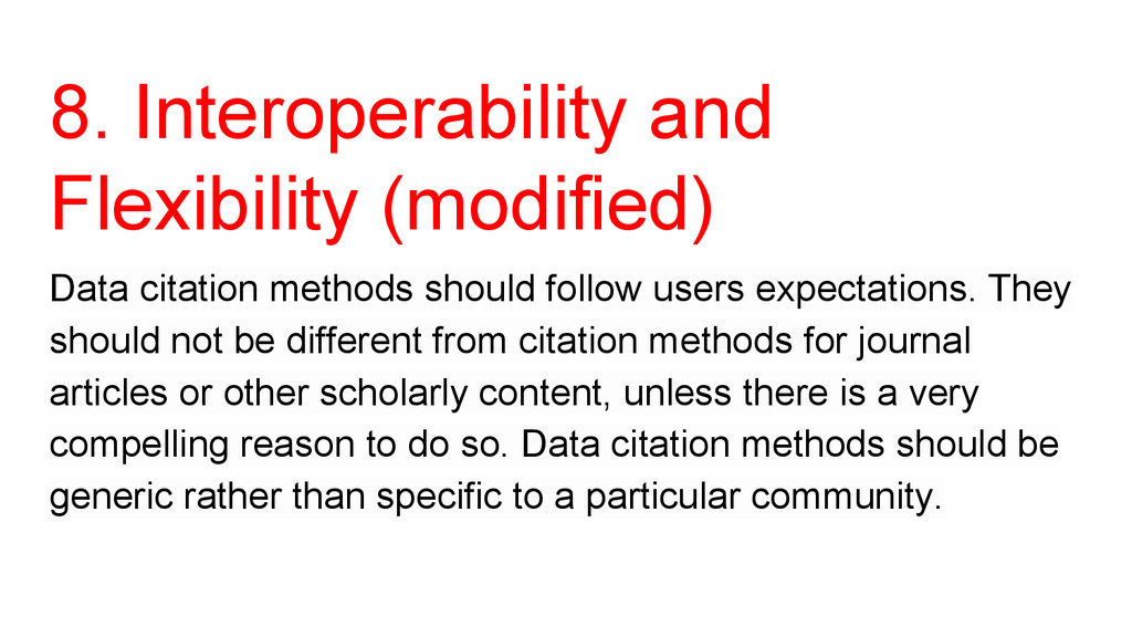 8. Interoperability and Flexibility (modified) ...