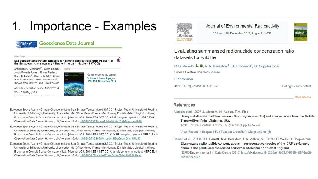 1. Importance - Examples