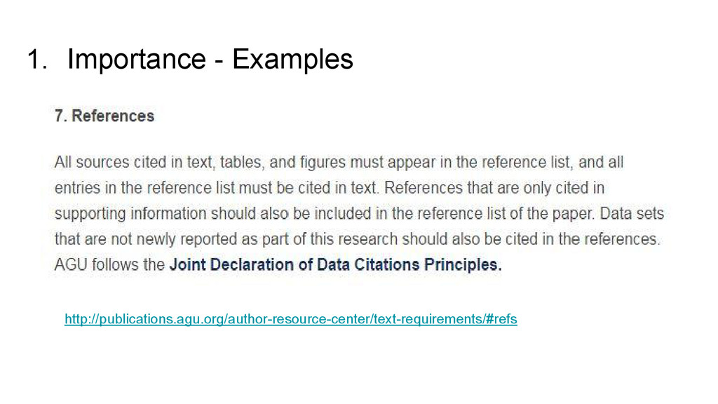 1. Importance - Examples http://publications.ag...