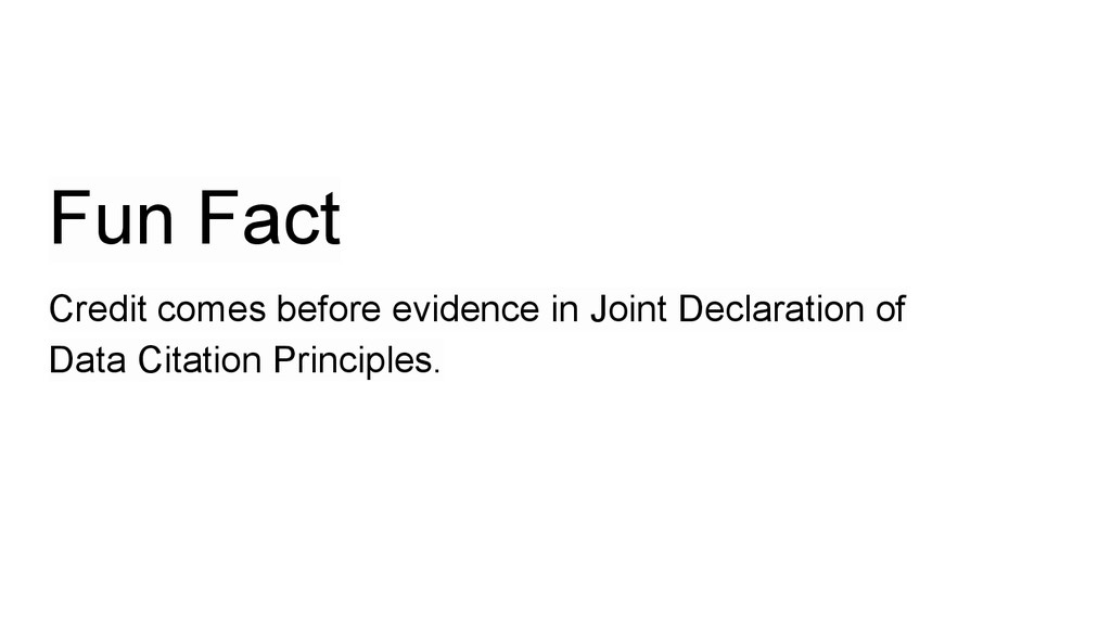 Fun Fact Credit comes before evidence in Joint ...