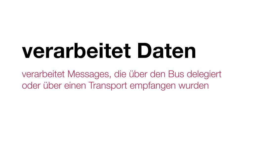verarbeitet Daten verarbeitet Messages, die übe...