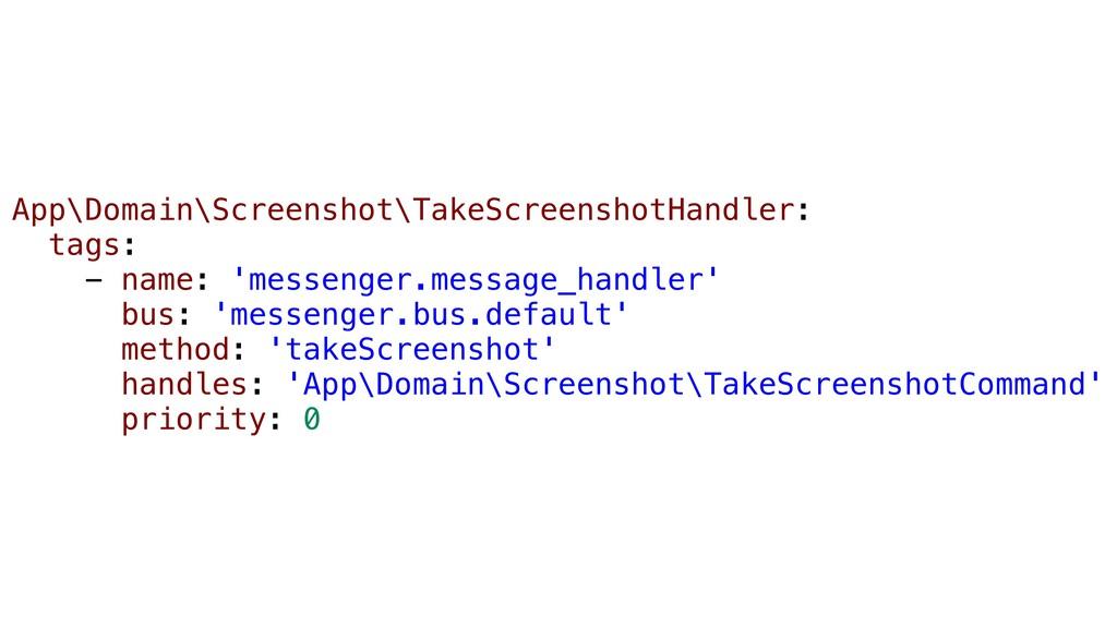 App\Domain\Screenshot\TakeScreenshotHandler: ta...