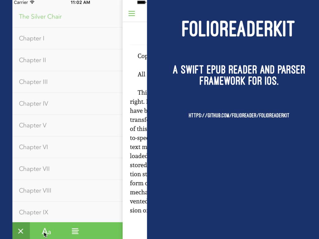 FOLIOREADERKIT A Swift ePub reader and parser f...