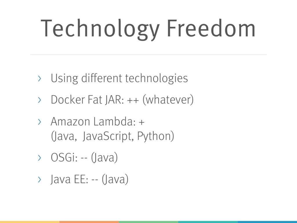 Technology Freedom > Using different technologi...