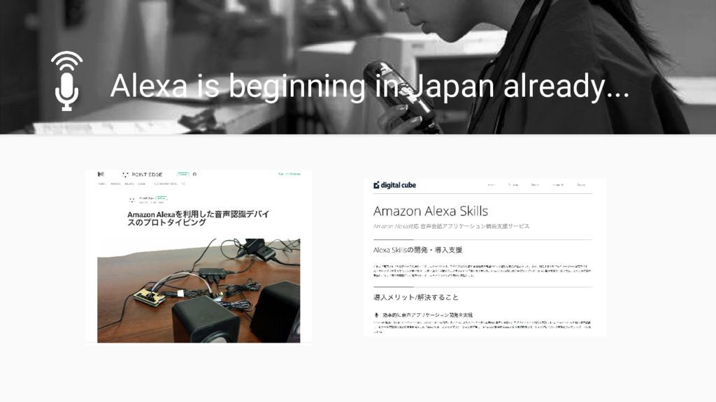 Alexa is beginning in Japan already...
