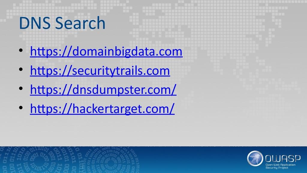 DNS Search • https://domainbigdata.com • https:...