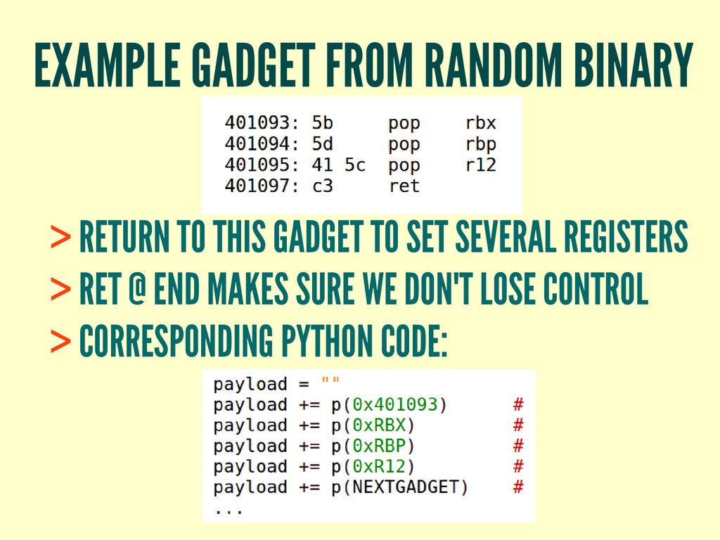 EXAMPLE GADGET FROM RANDOM BINARY > RETURN TO T...