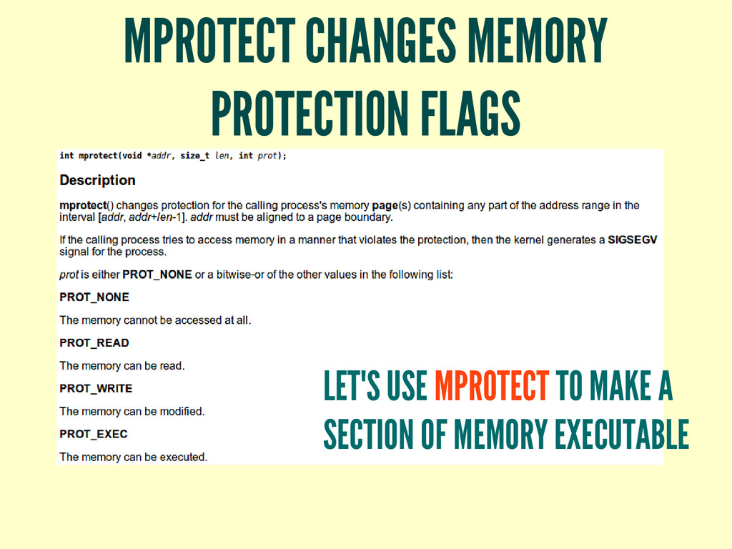 MPROTECT CHANGES MEMORY PROTECTION FLAGS LET'S ...