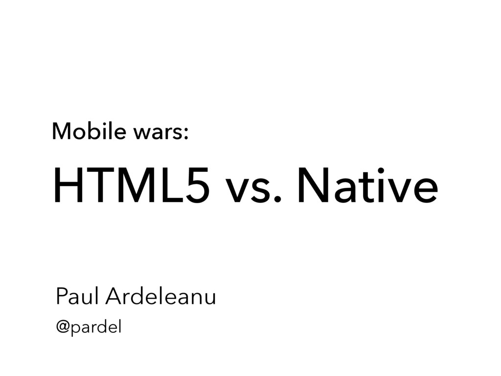 Mobile wars: 