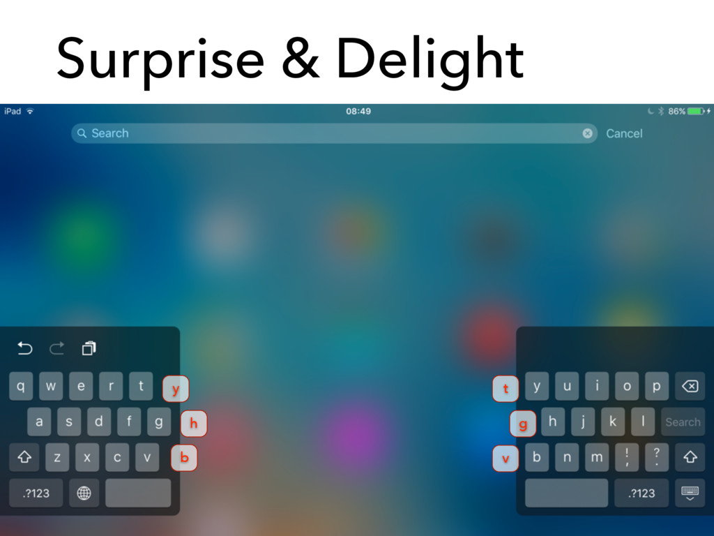 Surprise & Delight y h b t g v